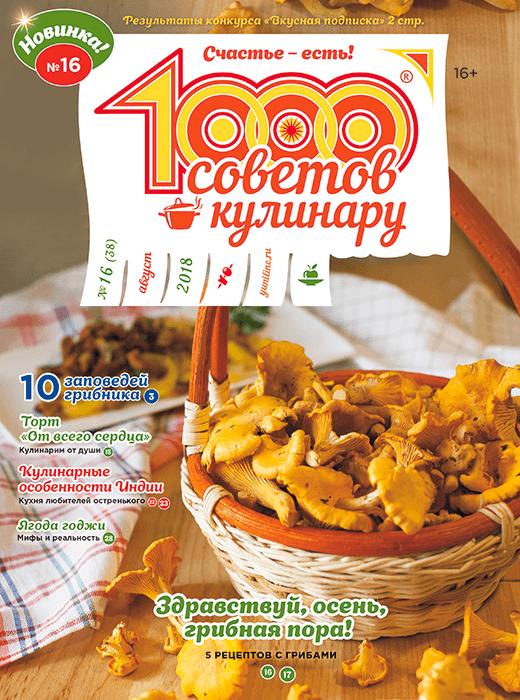 1000 СОВЕТОВ КУЛИНАРУ № 16 2018