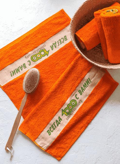 Полотенце «1000 Советов» оранжевое