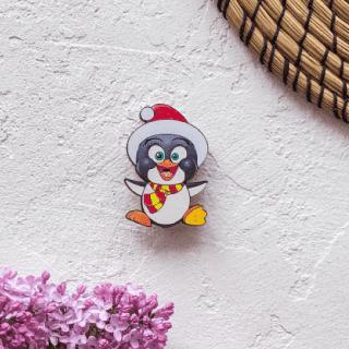 Деревянный значок «Пингвинчик Пепе»