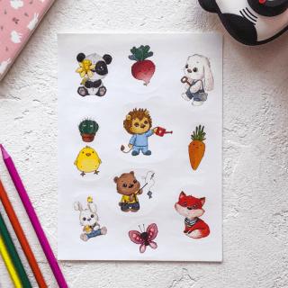 Набор стикеров «Милые зверята»