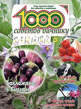 1000 СОВЕТОВ ДАЧНИКУ №3 2016
